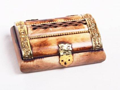 Magická dřevěná truhlička - šperkovnice #04 - Indie