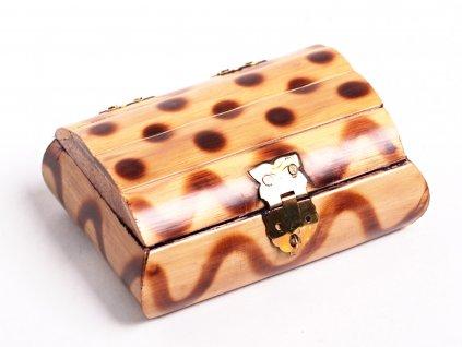 Magická dřevěná truhlička - šperkovnice #06 - Indie