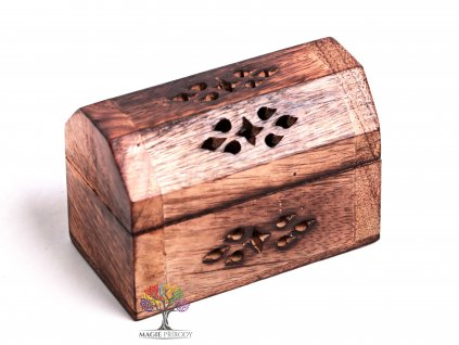 Dřevěná truhlička a stojánek na vonné tyčinky - františky #20