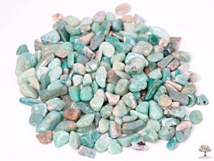 Tromlované kamínky Amazonit S - kameny o velikosti 15 - 25 mm - 500 g - Brazílie