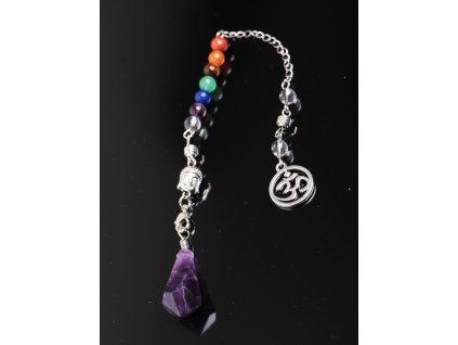 Kyvadlo Ametyst - čakrové - věštecké kyvadélko z kamene #15  + sleva 5% po registraci na většinu zboží + dárek k objednávce