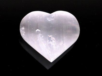 Srdce Selenit 70x60 mm - Selenitové srdce z přírodního kamene #242