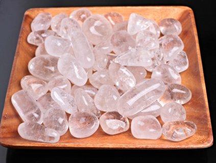 Tromlované kamínky Křišťál XXL - kameny o velikosti 40 - 105 mm - 100 g - Brazílie