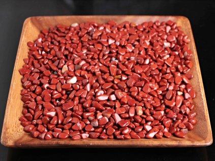 Tromlované kamínky Jaspis Červený S - kameny o velikosti 15 - 25 mm - 100 g - Brazílie