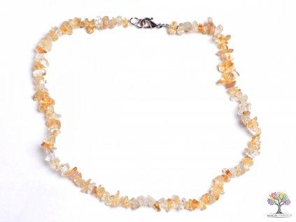 Náhrdelník Citrín tromlovaný #07- z přírodních kamenů  + sleva 5% po registraci na většinu zboží + dárek k objednávce