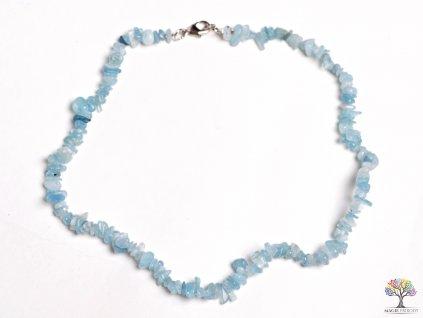 Náhrdelník Akvamarín tromlovaný #02 - z přírodních kamenů  + sleva 5% po registraci na většinu zboží + dárek k objednávce