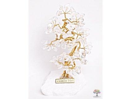 Křišťálový stromeček štěstí 16 cm - B1 - #65