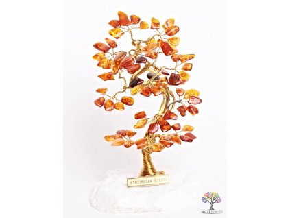 Jantarový stromeček štěstí 16 cm - B1 - #71  + sleva 5% po registraci na většinu zboží + dárek k objednávce