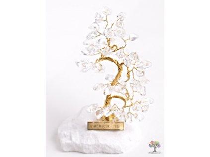 Křišťálový stromeček štěstí 13 cm - B0 - #76