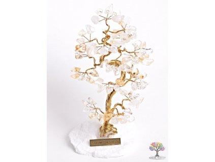 Citrínový stromeček štěstí 16 cm - B1 - #78