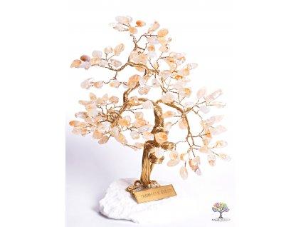 Citrínový stromeček štěstí 25 cm - B3 - #81