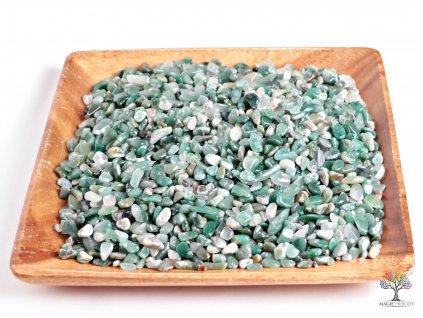 Tromlované kamínky Chalcedon zelený S - kameny o velikosti 15 - 25 mm - 100g - Brazílie