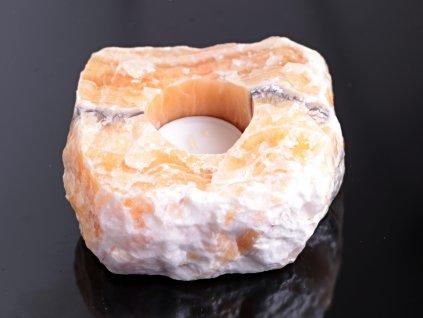Svícen na svíčku - Kalcit přírodní - 0.900 kg #57