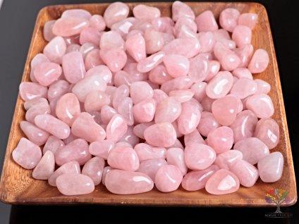 Tromlované kamínky Růženín L - kameny o velikosti 30 - 45 mm - 100 g - Madagaskar  + až 10% sleva po registraci