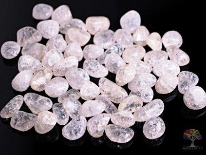 Tromlované kamínky Křišťál pukaný - M - kameny o velikosti 20 - 40 mm - 100 g - Brazílie