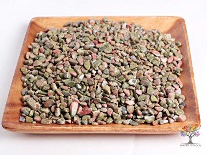 Tromlované kamínky Unakit S - kameny o velikosti 15 - 25 mm - 100 g - Brazílie  + sleva 5% po registraci na většinu zboží + dárek k objednávce