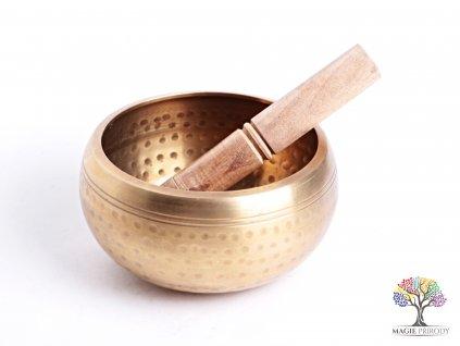 Tibetská miska - zpívající mísa 13.5 cm - 1000 g s paličkou #15