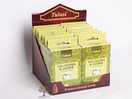 Vonné františky Tulasi Nag Champa Jasmine - Jasmín 15 ks - #02  + sleva 5% po registraci na většinu zboží + dárek k objednávce