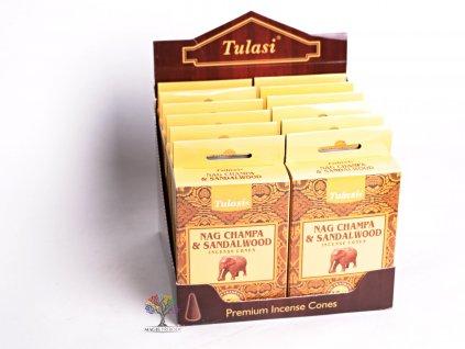 Vonné františky Tulasi Nag Champa Sandalwood - Santalové dřevo 15 ks - #10  + sleva 5% po registraci na většinu zboží + dárek k objednávce