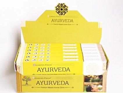 Vonné tyčinky Garden Fresh Premium Ayurveda - vůně léčivých rostlin - 12 ks - #28