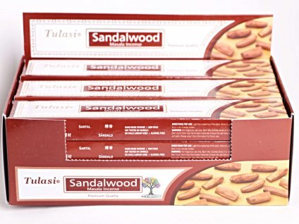 Vonné tyčinky Tulasi Premium Sandalwood - vůně Santalové dřevo - 12 ks - #30