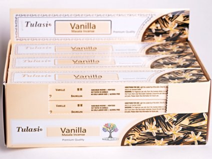 Vonné tyčinky Tulasi Premium Vanilla - vůně vanilky - 12 ks - #33