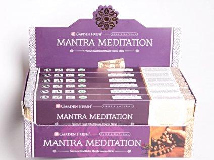 Vonné tyčinky Garden Fresh Premium Mantra Meditation - 12 ks - #34