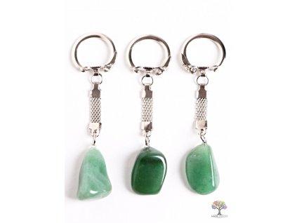 Přívěsek na klíče kámen Avanturin #118 - klíčenka