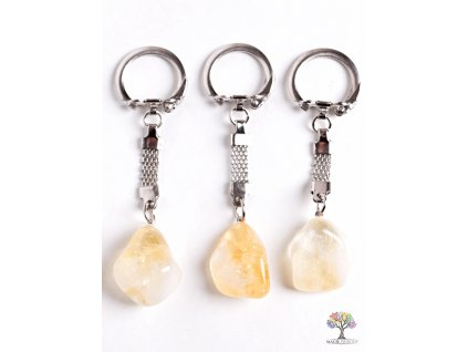 Přívěsek na klíče kámen Citrín #119 - klíčenka