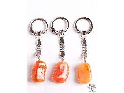 Přívěsek na klíče kámen Karneol #120 - klíčenka  + sleva 5% po registraci na většinu zboží + dárek k objednávce