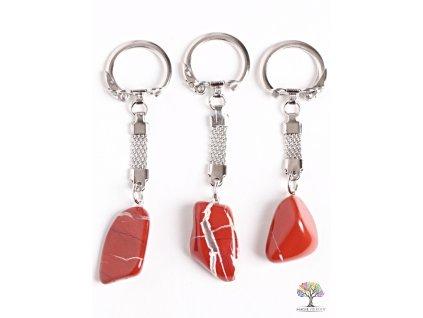 Přívěsek na klíče kámen Jaspis červený #125 - klíčenka