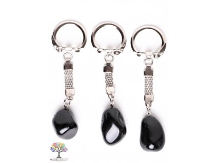 Přívěsek na klíče kámen Obsidián #128 - klíčenka  + až 10% sleva po registraci