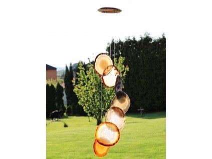 Achátová zvonkohra - z přírodního kamene #51