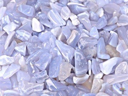 Tromlované kamínky Chalcedon modrý S - kameny o velikosti 15 - 25 mm - 1kg - Brazílie  + sleva 5% po registraci na většinu zboží + dárek k objednávce