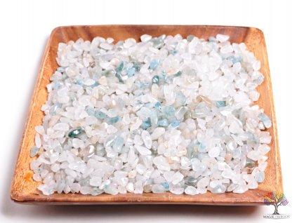 Tromlované kamínky Apatit v křemeni (Aqualite) S - kameny o velikosti 15 - 25 mm - 500g - Afrika