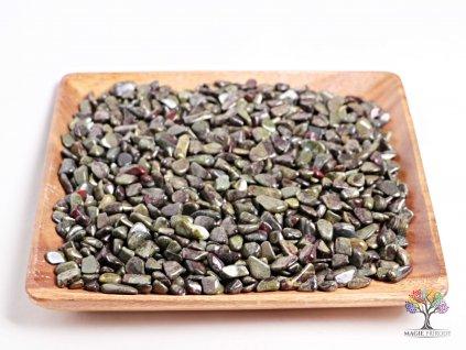 Tromlované kamínky Epidot S - kameny o velikosti 15 - 25 mm - 100 g - Brazílie