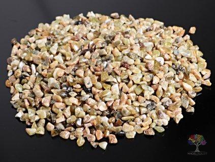 Tromlované kamínky Granát zelený XS - kameny o velikosti 6 - 10 mm - 1kg - Afrika  + sleva 5% po registraci na většinu zboží + dárek k objednávce