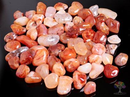 Tromlované kamínky Karneol L o velikosti 25 - 35 mm - 100g - Brazílie