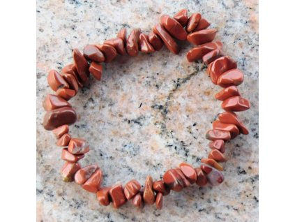 Náramek sekaný - Jaspis červený - tromlovaný - 32  + sleva 5% po registraci na většinu zboží + dárek k objednávce