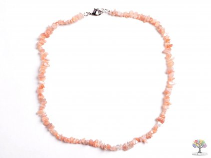 Náhrdelník Měsíční kámen oranžový tromlovaný #21 - z přírodních kamenů  + sleva 5% po registraci na většinu zboží + dárek k objednávce