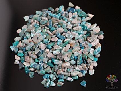 Tromlované kamínky Shattuckit S - kameny o velikosti 15 - 25 mm - 100 g - Kongo