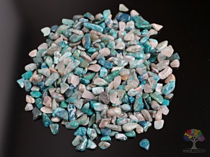 Tromlované kamínky Shattuckit S - kameny o velikosti 15 - 25 mm - 500 g - Kongo