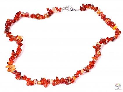Náhrdelník Karneol tromlovaný #15 - z přírodních kamenů  + sleva 5% po registraci na většinu zboží + dárek k objednávce