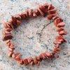 Náramek sekaný - Jaspis červený - tromlovaný - 32