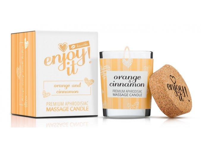 Masážna sviečka pomaranč škorica