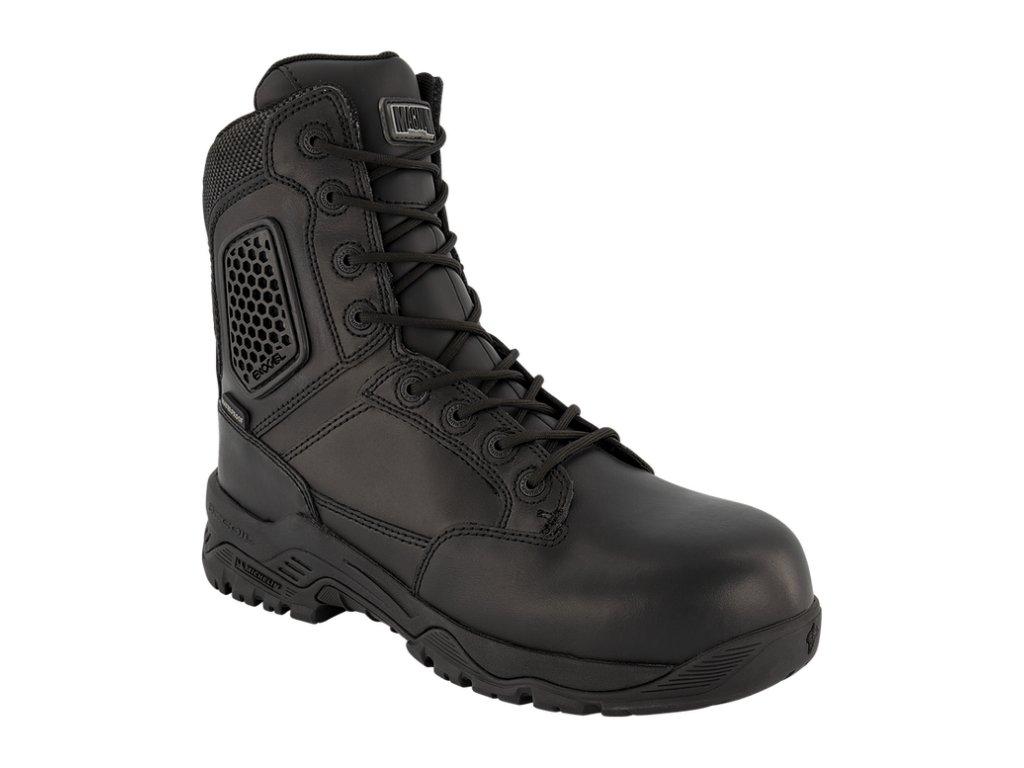 magnum strike force 8 0 side zip wp takticke boty cerne s postrannim zipem