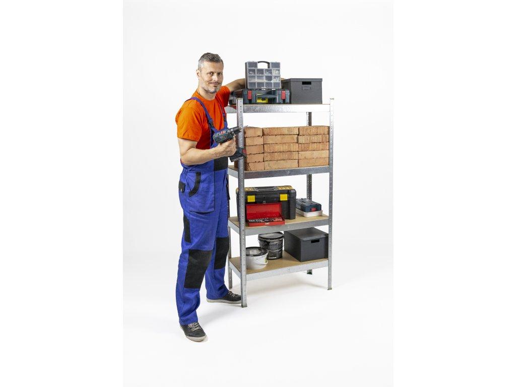 2684 akcios csomag 5 darab salgo polc 1600x800x400 mm horganyzott 4 polc teherbiras 700 kg