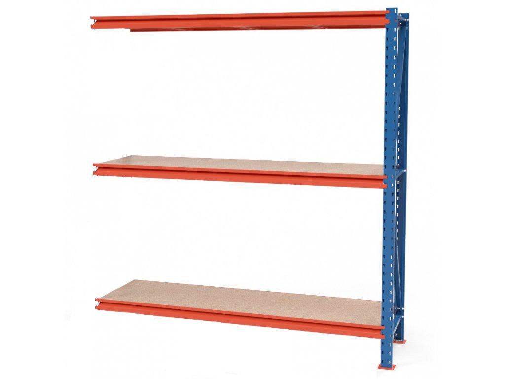 Végtelen ipari állvány 2000x1830x600 3-polc, teherbírás 2700 kg -hozzácsatolható állvány
