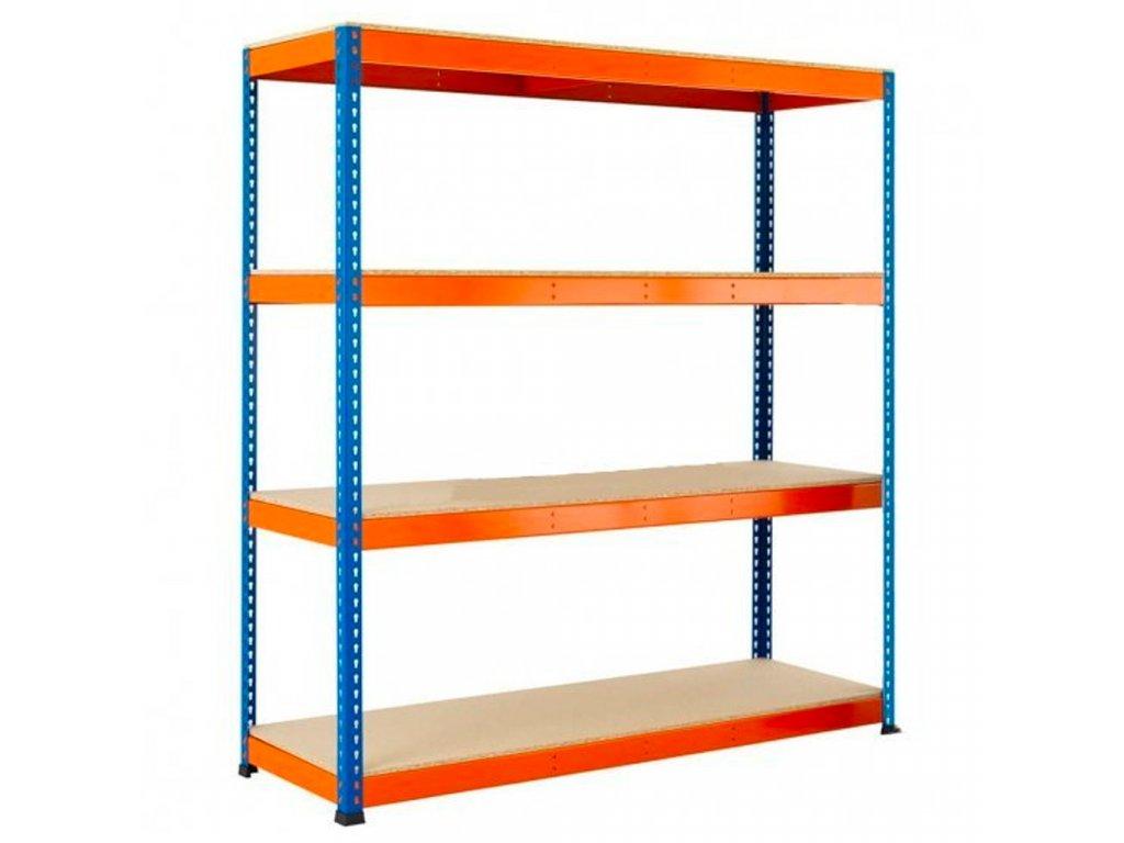 3671 3 akcios csomag 3 darab ipari profi salgo polc 1800x1800x500 mm lakkozott 4 polc teherbiras 1600 kg