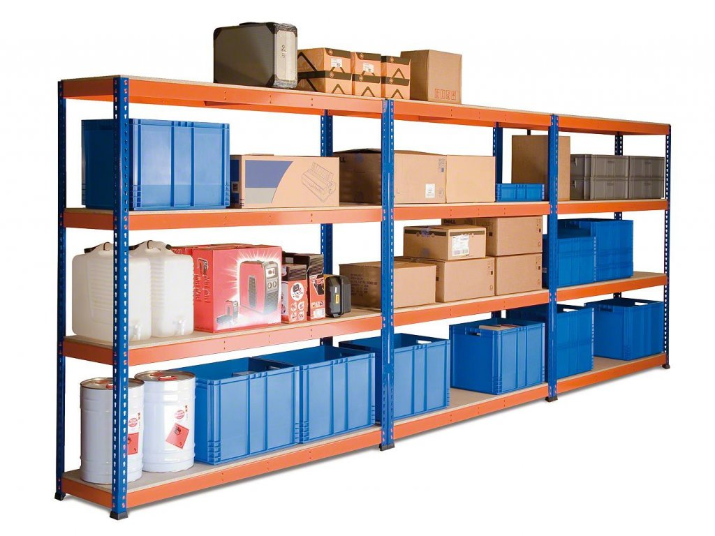 3707 3 akcios csomag 5 darab ipari profi salgo polc 1800x1800x500 mm lakkozott 4 polc teherbiras 1600 kg